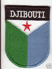DJIBOUTI Flag Country Patch Shield Style