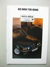 BMW 730 735i 735iL prestige brochure Prospekt German text Deutsch 38 pages 1991