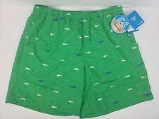 COLUMBIA PFG BACKCAST II PRINTED Water Shorts Green Men's Size L  NWT