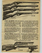 1952 PAPER AD Rifle Daisy Defender Red Ryder Pump Repeater Sheridan Kessler Air