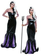 Evil Sea Witch Ladies Ursula Halloween Fancy Dress Costume Fairytale Horror