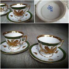 tasses anciennes porcelainedécor empire, abeilles capodimonte ? à identifier.