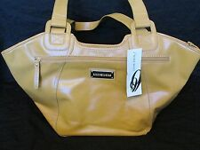 New Nine West Large Hobo Handbag/Purse Mustard Yellow Faux Leather Retail
