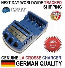 Original Genuine La Crosse (Technoline) BC-1000 NiMH charger +4 C/D adapters EU