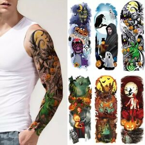 Halloween Temporary tattoo full arm sticker sleeve men women adults body art