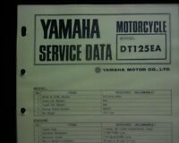 1973-74 Yamaha DT125 EA Service Data specification booklet, Workshop Manual
