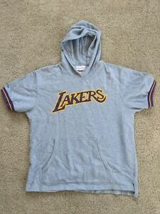 Mitchell Ness HWC Los Angeles Lakers NBA French Terry Hoodie Short Sleeve Large