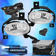 2010-11 Honda Crv Cr-V 4 Door Jdm Clear Lens Front Driving Fog Lights Lamps+Wire