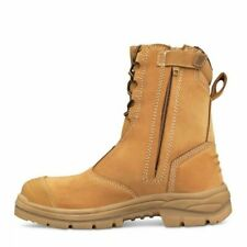 Oliver Work Boots 55385, Steel Toe Safety High Leg, Zip Side. Size 9.5