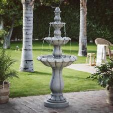 Large Water Fountain  Outdoor Three Tier 60In Garden With PumpTraditional Decor