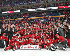 Canada 2018 Gold Medal Winners IIHF World Junior Champ. - 8x10 Color Team Photo