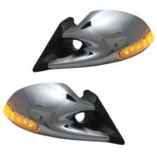 Sportspiegel Set Chrom manuell + LED Blinker für Opel Corsa B