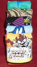 "NEW MENS ""LOONEY TUNES CARTOON CHARACTERS 5 PR CASUAL CREW SOCKS"" Sock Sz 10-13"