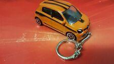 Diecast Renault Twingo Orange Toy Car Keyring NEW