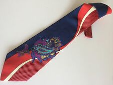 KENZO Cravatta Tie Original Nuova New 100% Seta Silk Made In Italy