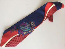 KENZO Cravatta Tie Original Nuova New 100% Seta Silk Made In Italy