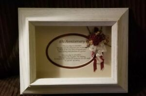 Wells Art Shadow Box Frame 40th Anniversary with An Inspirational Message