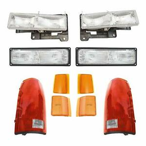FOR GMC TRUCK C1500 1994 1995 1996 1997 1998 HEADLIGHT PARKING MARKER TAIL LAMPS