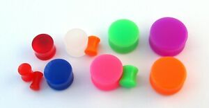 Asst Colours Acrylic Flared Ear Stretcher Taper Expander Plug Tunnel 3mm - 20mm