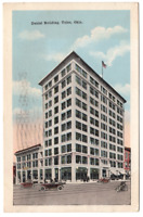 Vintage Postcard Daniel Building Tulsa Oklahoma Old Automobiles Posted 1917 J21A