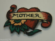 MOTHER HEART TATTOO STYLE Embroidered Sew Iron On Cloth Patch Badge Jacket MHTS
