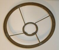"""Antique 7"""" Brass 4 Spoke Kerosene Oil Lamp Shade Holder Ring 1-7/8"""" Mount Vtg"""