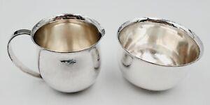 VTG Georg Jensen/Harald Nielsen Sterling Silver Open Creamer & Sugar Bowl #527
