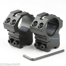 "Scope Rings 1"" Diameter For 22 cal /Air Rifle Medium 3/8 Inch Dovetail Mount *"