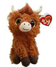 TY BEANIE BABIES BOOS ANGUS HIGHLAND COW PLUSH SOFT TOY NEW WITH TAGS