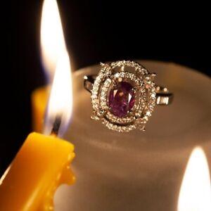 June Birthstone! Rare! 1.98ctw Natural Alexandrite Diamond 18k White Gold Ring