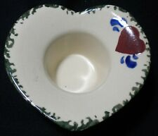 Ceramic Candle Holder Heart Shaped Holds 2.5oz of wax.