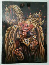 Painting Bali Dance 80x60cm Barong Ket Ethnic