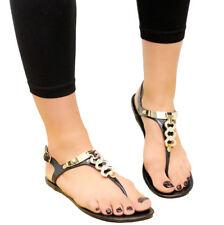 Ladies Womens Beach Summer Diamante Sliders Jelly Flip Flop Sandals Shoes Size