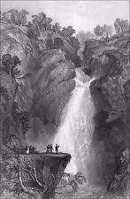 ÉCOSSE - LA CHUTE de FOYERS (Invernesshire) - Gravure du 19eme siècle
