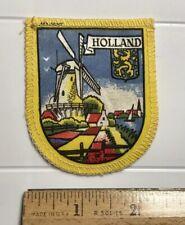 Dutch Windmill Holland The Netherlands Yellow Souvenir Badge Patch