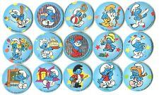 POGS - H-Schtroumpfs 15 001 Lot de 15 pogs Schtroumpfs tous différents de la WPF