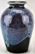 Nice contemporary Flambe vase, signed BETH.