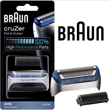 Mens Braun 20S Cruzer Replacement Foil & Cutter Head Combi Pack 2876 2776 2865