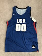Nike Usa Training Basketball Jersey And Shorts L Large Blue Red Polyester Nwot