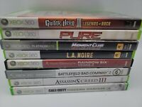 Lot of 8 Microsoft Xbox 360 Games, Tested (Guitar Hero 3 Assassin's Creed III)