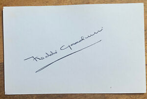Signed White Card Freddie Goodwin Busby Babes 1950s Manchester United Autograph