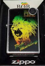 Zippo 28844 Bob Marley iron lion street chrome finish full size Lighter NEW