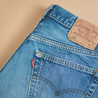 Levi 501 Jeans Blue Straight Button Fly Unisex Vintage (PatchW33L32) W 30 L 34