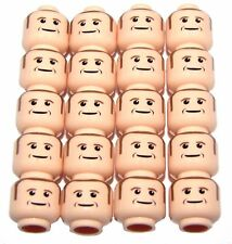 LEGO LOT OF 20 FLESH MALE HEADS MAN SIDEBURNS PARTS PIECES MINIFIG ACCESSORIES