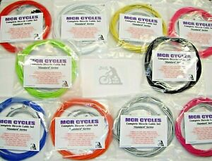 NEW Full set of Bike Cables Brake + Gear, Front + Rear inner & outer Bicycle kit