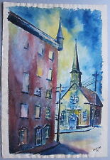 Cantin • watercolor • Place Royale (Québec)