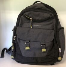 Eddie Bauer First Adventure Gray Backpack Diaper Bag Insulated Bottle Pockets