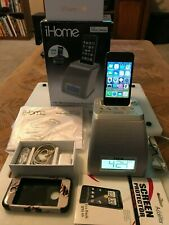 Apple iPhone 4s A1387 16GB Black (Sprint) phone w/accessories, and iP21 iHome