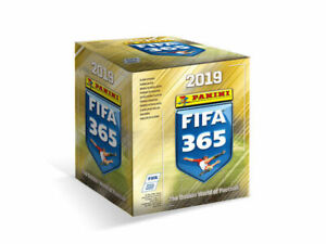 2019 FIFA Panini 365 Sticker Collection Sealed Box of 50 Packets 250 Stickers
