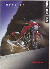 1997 ducati 600 750 & 900 monster 6 page brochure